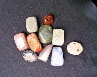 Large Gemstone Nugget Bead Assortment