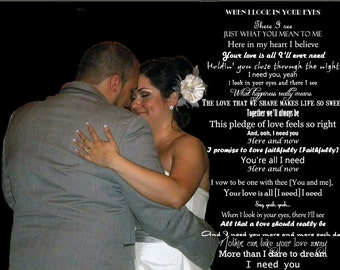 First Dance Picture with Song Lyrics, First Dance, Wedding Picture, First Dance Lyrics