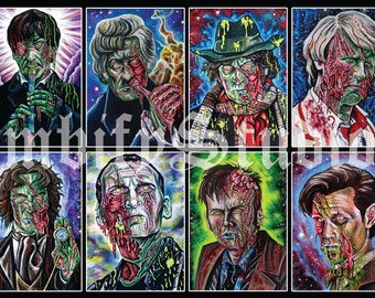 """Doctor Who Zombie Poster 33x15"""""""