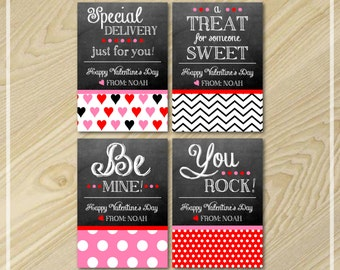 Valentine's Day - Valentine Cards for Kids - Chalkboard Cards