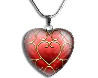 Zelda Heart Container Necklace, Legend of Zelda Heart Necklace, Legend of Zelda Pendant, Legend of Zelda Pendant, Heart Container Necklace