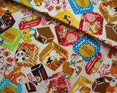 Japanese Fabric Cotton Cosmo - Kawaii Sweets Yellow - Fat Quarter
