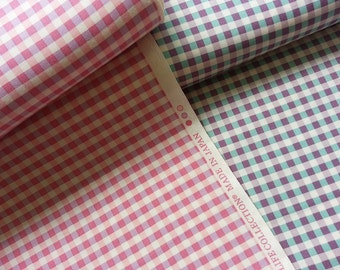 Gingham Fabric, Japanese Cotton Fabric, Yuwa Fabric, Checkered Fabric, Green Gingham, Purple Gingham, Pink Gingham/Vintage Gingham/a yard