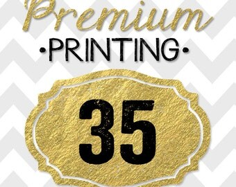 35 5x7 PREMIUM PRINTED double-sided INVITATIONS on thick cardstock and free white envelopes