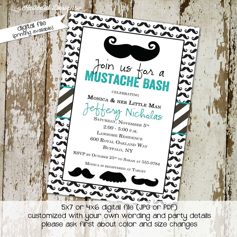 little man baby shower invitation mustache bash couples shower ...