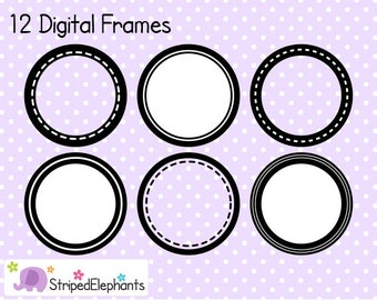 Circle Digital Frame Collection 1 - Clip Art Frames - Instant Download - Commercial Use