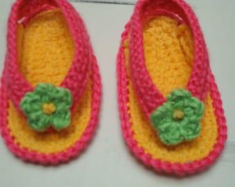 Crochet Baby Flip Flop Sandals Infant/Toddler sizes