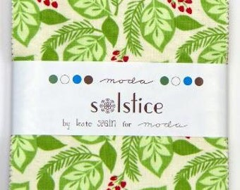 SALE Solstice Christmas Charm Pack  designed by Kate Spain for Moda