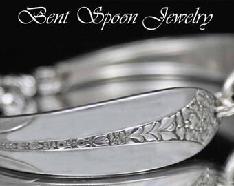Silver Spoon Bracelet, Vintage Princess Royal 1930  Spoon Bracelet, Silverware Jewelry, Wedding Bracelet