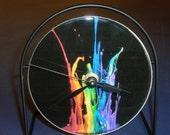 Splash of Color  Recycled CD Clock Art