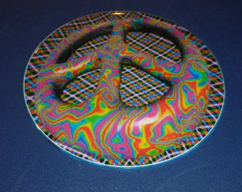 Psychedelic Peace CD Wall/ Magnet Art