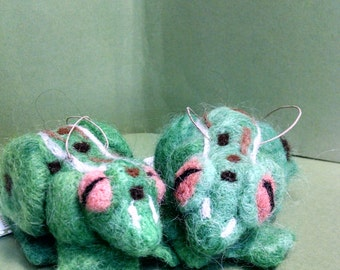 Frog Felted Alpaca Ornament/Figurine - NEW for 2014