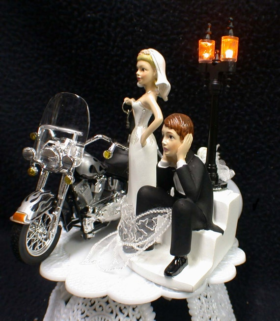 harley davidson wedding cake toppers canada wedding cake topper w diecast black harley davidson motorcycle 15078