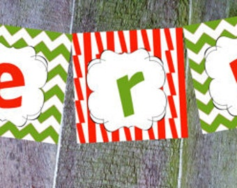Merry Grinchmas Printable Banner-INSTANT DOWNLOAD