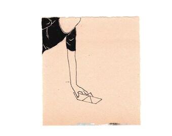 Paper Boat - Art Print