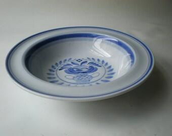 Vintage Arabia of Finland Blue Rose Bowl