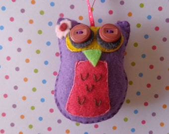 Mrs. Melody Owl Ornament by Pepperland