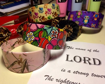 Animal Print Headband, Owl Hair Accessories, Girls Headbands, Teen Hair Accessories, Womens Hair Accessories, Duct Tape Crafts, Headbands
