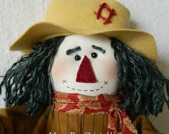 Scarecrow Doll ~ Mr. Grasshopper ~ 24 Inches Tall ~ Autumn Art Doll ~ Fall Doll ~ Scarecrow Collectible