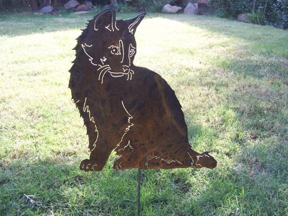 Items Similar To Pet Cat Memorial Garden Stake For Your Garden Kitty Kitten Steel Sculpture