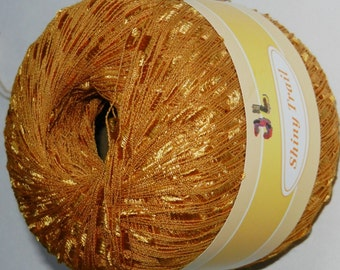 Shiny Trail Ladder Trellis Yarn col 24 Gold free shipping
