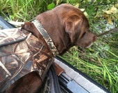 Personalized Camo Dog Collar Realtree Max 5 Camouflage Adjustable Dog Collar -  Embroidered