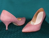 Vintage 1950's Glamourous Pink / Stylepride / Cocktail Party / Pointed Toe / Rockabilly / Stiletto Heels, RARE