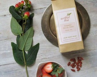 Organic Berry Bold Green Tea • 8 oz. Kraft Bag • Loose Leaf Wellness Tea Blend