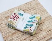 Large ORGANIC Cloth Napkins - Set of 4 - (N1934) - Forest Leaves Modern Reusable Fabric Napkins