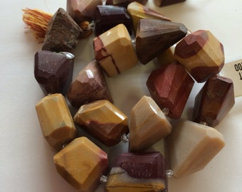 Mookaite Faceted Nuggets-17x15mm