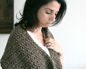 Large Chunky Cowl Wrap in Barley/THE SIMCOE