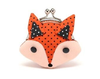 Little cunning red fox mini wallet