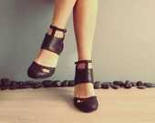 Cecile - Black - FREE SHIPPING Handmade Leather Shoes with Summer Sale Price