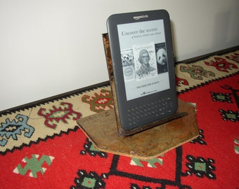 Smart phone,tablet,nook or Ipad display stand made from recycled weather beaten slate # A-8