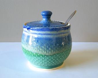 MADE TO ORDER, Sugar Bowl, Sugar Jar, Honey Pot, Lidded Vessel, Lidded Jar, by RiverStone Pottery
