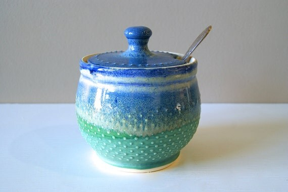 MADE TO ORDER, Sugar Bowl, Sugar Jar, Honey Pot, Lidded Vessel, Lidded Jar, by RiverStone Pottery