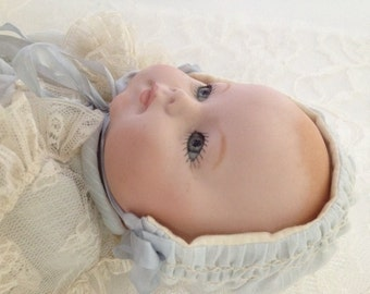 Porcelain Doll Baby German Reproduction Steiner Vintage