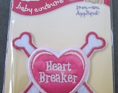 Heart Breaker Iron-On Applique