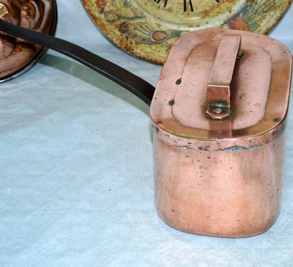 french antique daubi re braisi re copper pots pans. Black Bedroom Furniture Sets. Home Design Ideas