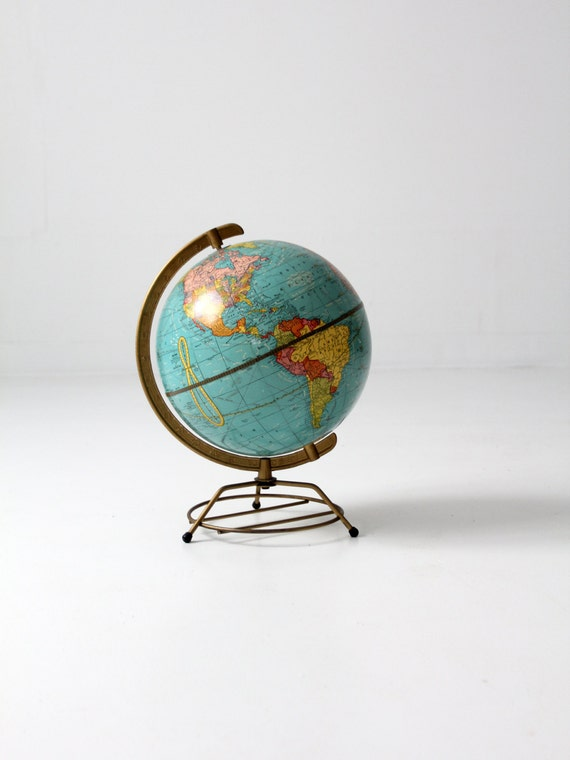 vintage 50s world globe / mid century globe