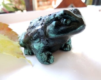 FROG SOAP, Charming Frog Exclusive For the Frog Lover Dark Green Scented in Mountain Lake Handmade