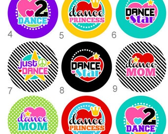 Dance Dancer Flair, 1 inch Pinback, Flatback Button or Badge set of 10