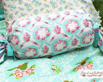 emma bolster pillowgirls custom bedding at sugar creek bedding