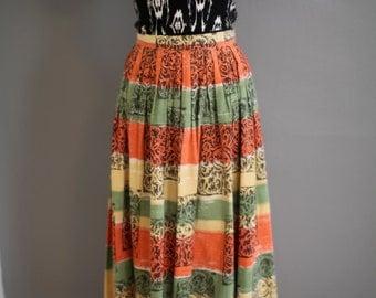 Penelope Stamped Maxi Skirt