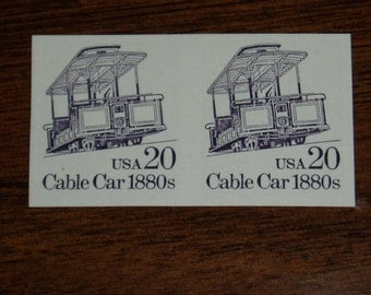 USA Mint Stamps, Imperf Error, Scott 2263a, Cable Car, 1988