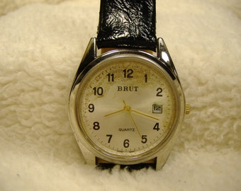 Vintage 1980s Brut Calendar Quartz Watch