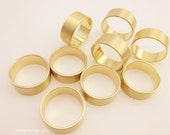 on sale till DEC 30-25 pcs fabulous Satin gold brass rings bases blank ring band-F985