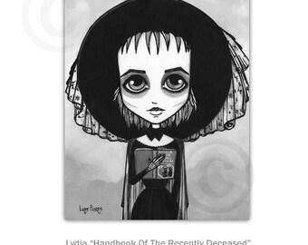 Lydia Handbook of the recently deceased 8x10 ART PRINT