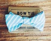 Bow Tie || Blue Stripe