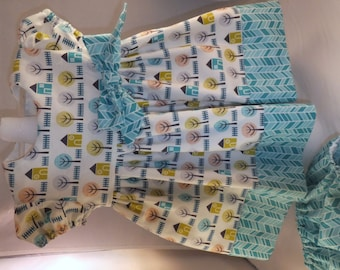 Baby girl's aqua dress